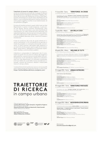 Traiettorie di Ricerca in Campo Urbano - programma incontri-2